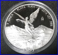 2016 Mexico 2-Coin Silver Libertad Proof/Reverse Proof Set With COA