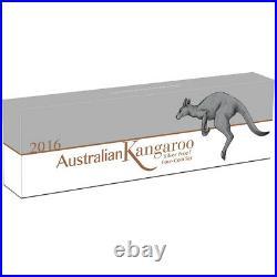 2016 P Australia Silver Kangaroo Four Coin Proof Set