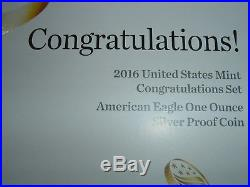 2016 US MINT CONGRATULATIONS SET with ORIGINAL GOVERNMENT PACKAGING, READ THIS