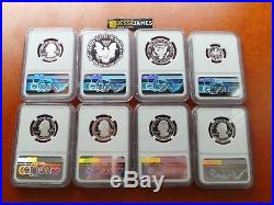 2017 S 8 Coin Limited Edition Silver Proof Set All Ngc Pf70 Early Releases Eagle