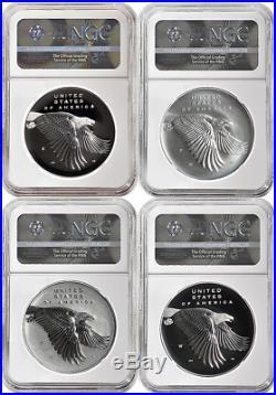 2017 Silver American Liberty Medal 4-Coin Set NGC PF70 ER RHETT JEPPSON LOW POP