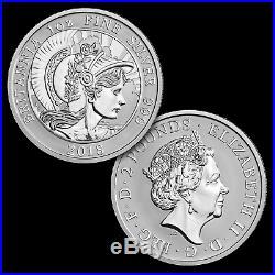 2018 2-Coin Silver 1 oz Britannia Proof/Reverse Proof Set SKU#172499