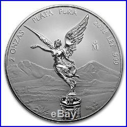 2018 Mexico 2-Coin Silver 2 oz & 5 oz Reverse Proof Set SKU#173390