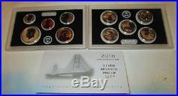 2018 Reverse Silver Proof Set U. S. Mint Box & COA 10 coins silver Half & Quarter