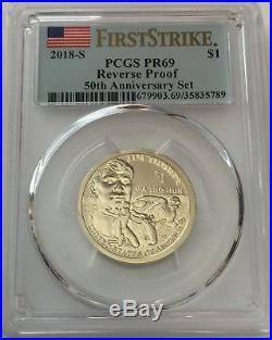 2018-S PCGS PR69 REVERSE SILVER PROOF SET 10 Coin Set PR 69 FIRST STRIKE