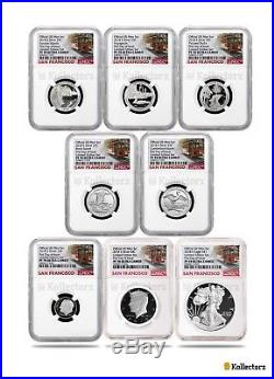 2018 S Silver 8-coin Limited Edition Set Ngc Pf70 Ultra Cameo First Day Of Issue