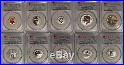 2018 S Silver Reverse Proof 10 Coin Set PCGS PR69 First Strike