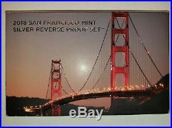 2018 Silver Reverse Proof Set San Francisco US Mint