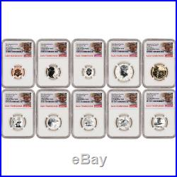 2018 US Mint San Francisco Silver Reverse Proof Set NGC PF70 Early Rel Trolley