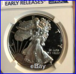 2018 W NGC Proof 70 UC $1 Silver Eagle Congratulations Set Early Releases + OGP