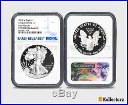 2018-W Proof $1 Silver Eagle Congratulations Set NGC PF70UC Blue First Releases