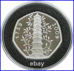 2019/2009 Kew Gardens 260th Anniversary Pagoda 50p Fifty Pence Silver Proof Coin