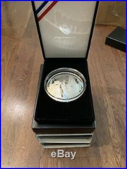2019 Apollo 11 50th Anniversary 5 oz Silver Proof Coin + Box + COA