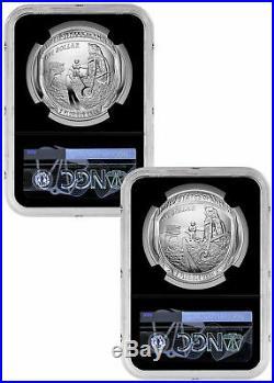 2019 P Apollo 11 50th 2 Coin Silver Dollar Set NGC MS70 PF70 Black Duke SKU57906