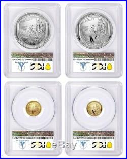 2019 P & W Apollo 11 50th Anniversary 4 Coin Set PCGS PR70/MS70 First Strike