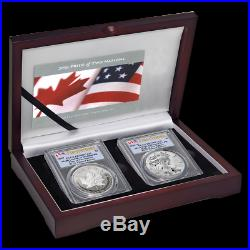 2019 Pride of Two Nation PCGS PR70 Royal Canadian Mint Set TWO COIN SET -(F. S.)
