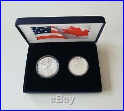 Free Ship IN HAND 2019 Pride of Two Nations 19XB Limited Edition Two-Coin Set