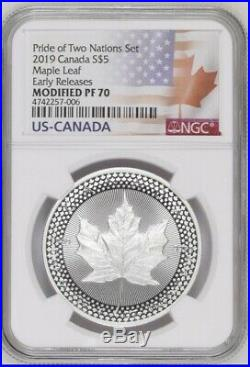 2019 Pride of Two Nations 2-Coin Set NGC PF 70 ER Two Flags Label