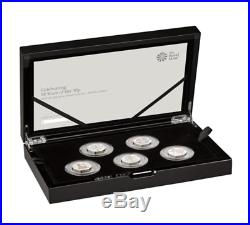2019 ROYAL MINT 5 COIN SILVER PROOF 50p CULTURE SET INCL. KEW GARDENS SOLD OUT