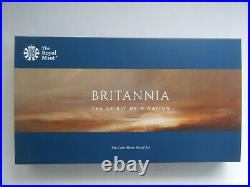 2019 Royal Mint Britannia Silver Proof 6 Coin Set with Box & COA