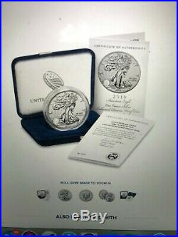 2019 S American Eagle One Ounce Silver Enhanced Reverse Proof Coin Confirmed