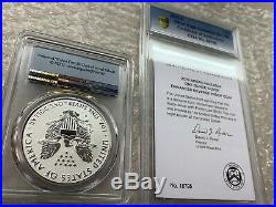 2019-S American Eagle One Ounce Silver Enhanced Reverse Proof Coin PR70 PCGS Set