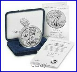 2019-S Enhanced Reverse Proof American Eagle Coin PCGS PR70 FS FLAG COA 06281