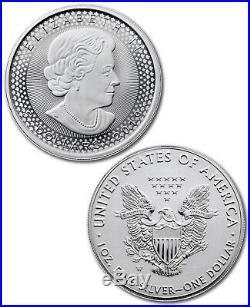 2019 Silver Eagle & Maple Pride Two Nations 2-Coin RCM Set OGP PRESALE SKU58353