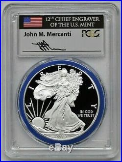 2019 W $1 Silver Eagle Congratulations Set PCGS PR70 FDOI Mercanti Philadelphia