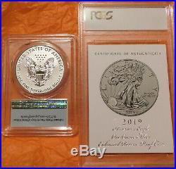 2019-s $1 One Dollar Silver Eagle Enhanced Reverse Proof Pcgs Pr69 4-digit Coa