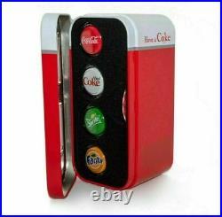 2020 Fiji Coca-Cola Vending Machine Proof Silver 4-Coin Set. 999 24 gram Fine Ag