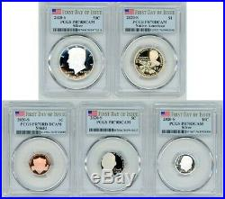 2020 S Silver Proof 5 Coin Set Pcgs Pr70dcam First Day Of Issue