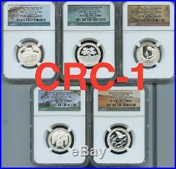 2020 S Silver Proof Quarters First Releases (5pc)Set NGC PF70 U. C. Portrait