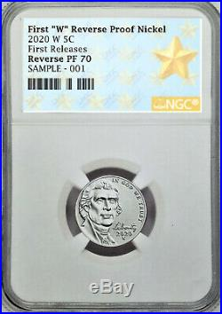 2020 SILVER PROOF SET with FIRST W REVERSE PF NICKEL, NGC REV PF70, FIRST RELEASES