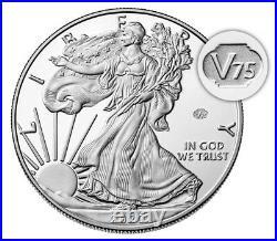 2020 W End of World War II 75th Anniversary American Eagle Silver PCGS PR70