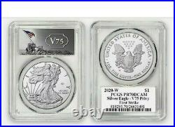 2020 W End of World War II 75th Anniversary American Eagle Silver PCGS PR70 PF70