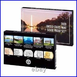 2020-W Reverse Proof Jefferson Nickel PCGS PF 70 FDOI 2020-S US Mint Silver Set