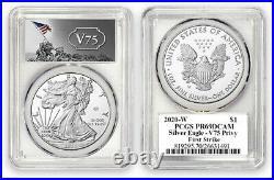 2020-W V75 PCGS PR69 PR69DCAM Privy 75th Anniv WWII End American Silver Eagle