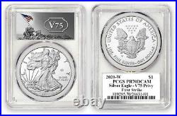 2020-W V75 PCGS PR70 PR70DCAM Privy 75th Anniv WWII End American Silver Eagle