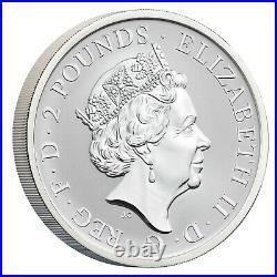 2021 Great Britain Britannia Proof & Reverse 2-Coin x 1 oz Silver Set 500 Made
