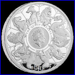 2021 Queen's Beasts Completer UK 5 Oz Silver Proof Ready to dispatch Coin 300