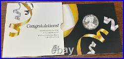 2021 W $1 American Proof Silver Eagle Congratulations Set (21RF) IN STOCK