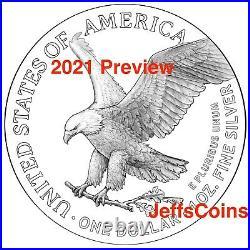 2021 W AMERICAN EAGLE SILVER Dollar PROOF West Point US 2020 Back 1oz. 999 21EA