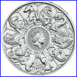 2oz Queens Beasts Silver Completer 999. Silver 2021