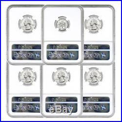 6-Coin 2017-S Limited Edition Silver Proof Set NGC PF70 ER 225th Annv SKU51981