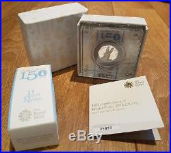 Beatrix Potter 150th Anniversary Peter Rabbit 2016 Silver Proof 50p Coin No. 9999