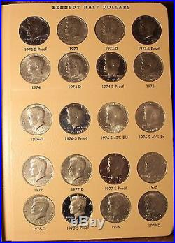 Collection Kennedy Halves 1964 2017 PDSS complete all Bu and proof 182 pcs Set
