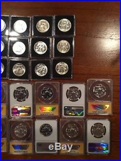 Complete Set Franklin Half Dollars 10 Proof 25 BU 1948-1963 35 Coins