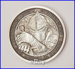 Destiny Knight The Raven Silver 3 Coin Collectors Set BU, Proof & Antiqued