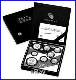 FROM US MINT2019 US Mint Limited Edition Silver Proof 8-Cn Set withCOA (#19RC)